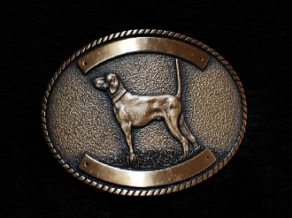 Pointer Trophy Buckle Bronze or Silver